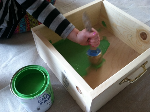 How to Make a Faux Drawer Paper Tray | Organized with Annie for tealandlime.com