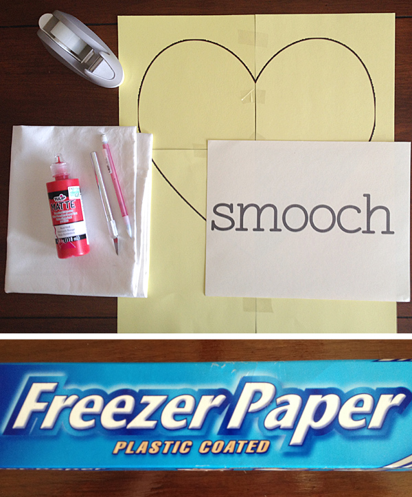 DIY Freezer Paper Stenciled Pillows