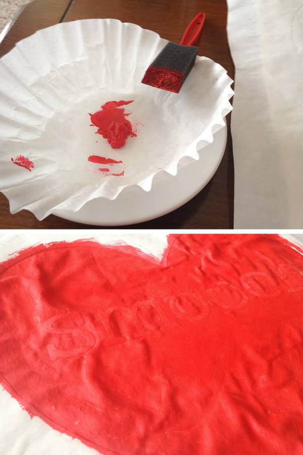 DIY Freezer Paper Stenciled Pillows