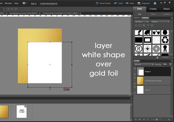 Make Gold Foil Art in Photoshop!