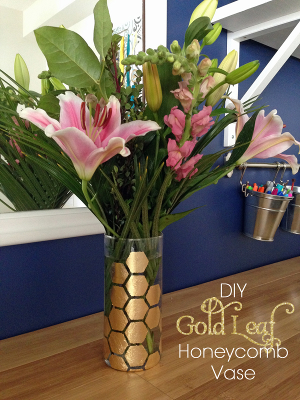 How to Stencil on Glass with Gold Leaf | tealandlime.com