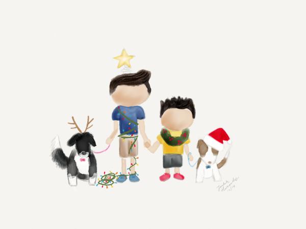 Christmas Painting 2014   tealandlime.com