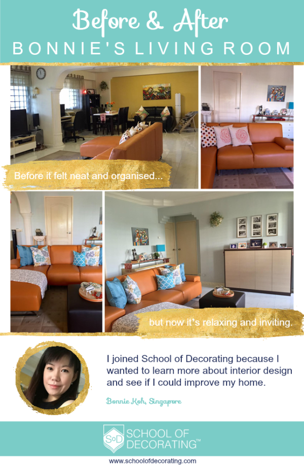 Case Study: How Bonnie transformed her living room with the lessons she learned in School of Decorating