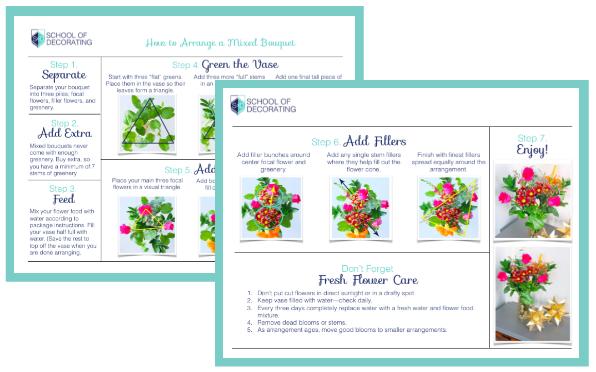 How to Arrange Flowers | www.schoolofdecorating.com