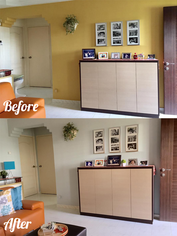 Before and After: Bonnie's Living Room Makeover | schoolofdecorating.com
