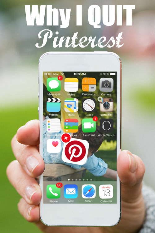 "One bloggers reason for giving up the popular social media platform to free herself from ""Pinterest-stress"""
