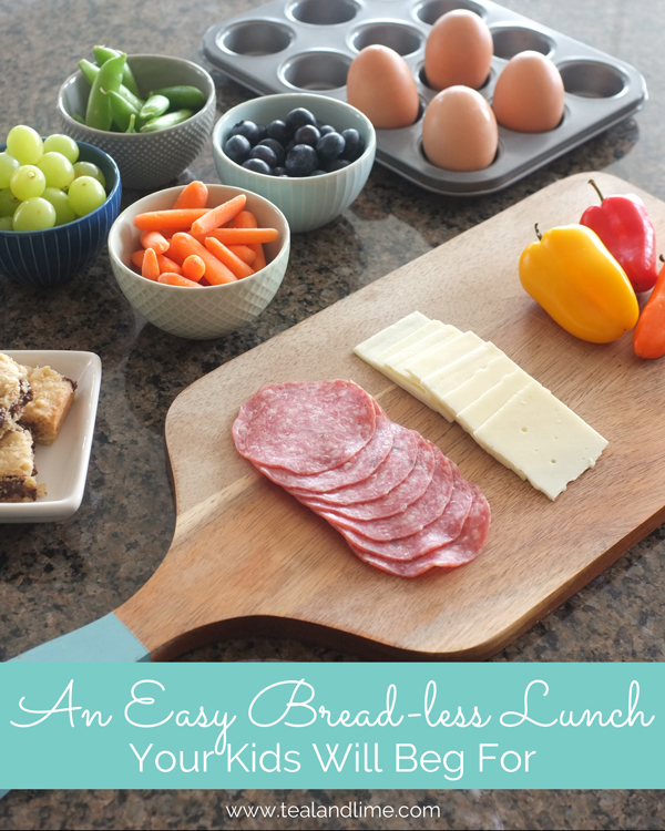 An easy bread-less lunch your kids will beg for this summer | tealandlime.com