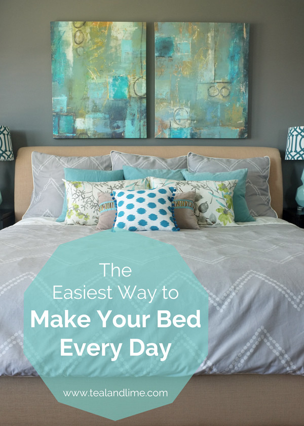 This is the easiest way to make your bed everyday