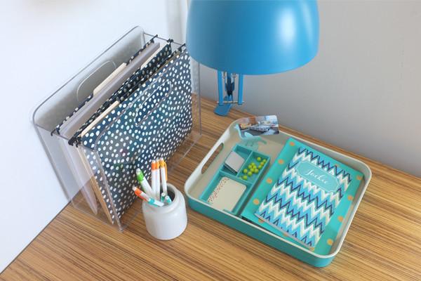 Beautifully styled desk