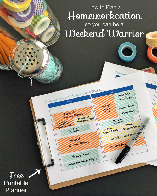 Free Weekend Warrior planner—get all your home maintenance done in one weekend with time to spare for fun