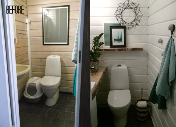 "Before & After: Jenni's ""Photo Shoot Ready"" Powder Room"