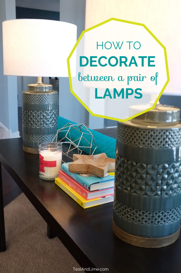 Great tips! This video shows how to decorate between a pair of lamps on a sofa table, entry table, buffet, or dresser. Click to watch the video and get the free cheat sheet.