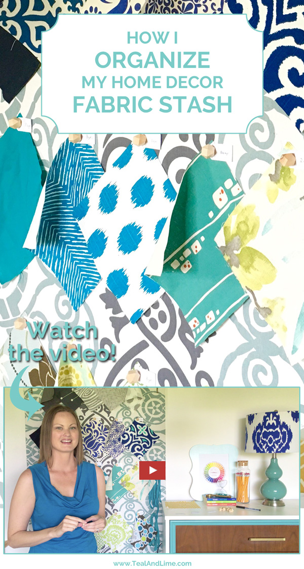 How to Organize Your Fabric Stash - Display fabric swatches on a pin board so you can see fabrics and yardage amount at a glance.