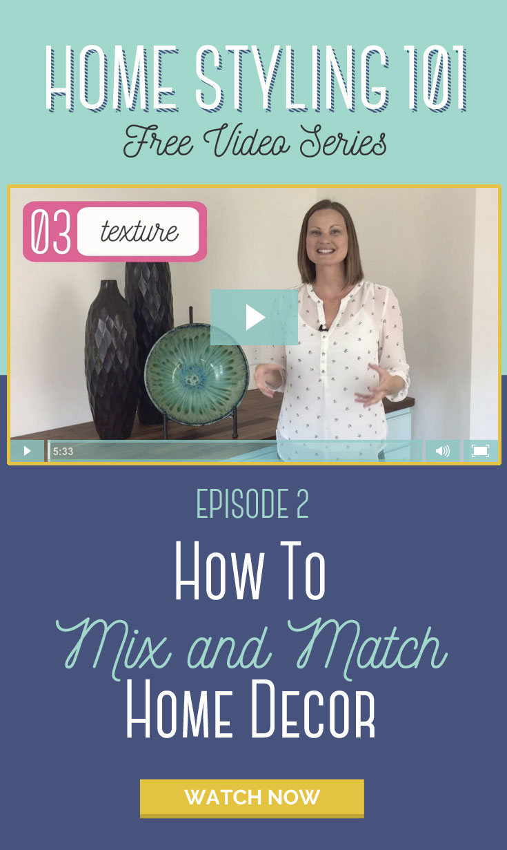 How to mix and match home decor - I never thought of it this way before, but she makes it so simple. Love this whole interior styling series.