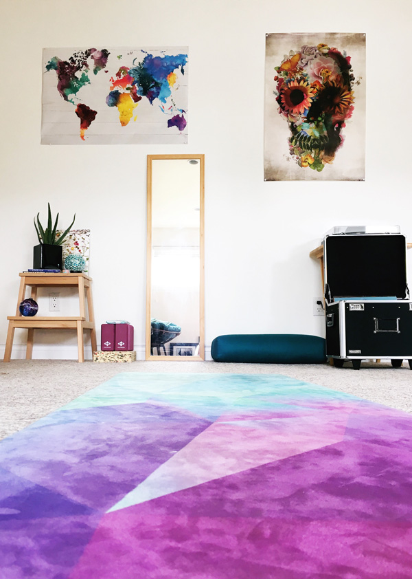 Free Thirty Three Yoga Mat inspires a room makeover