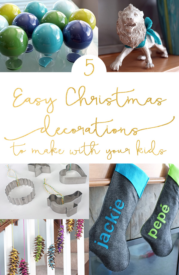 Diy Christmas Decor For School : Easy christmas decorations to make with your kids