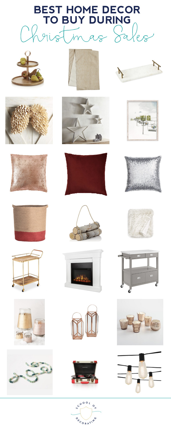 Here's a roundup of the best types of home decor to buy on sale before and after Christmas. Click through for all the product details.