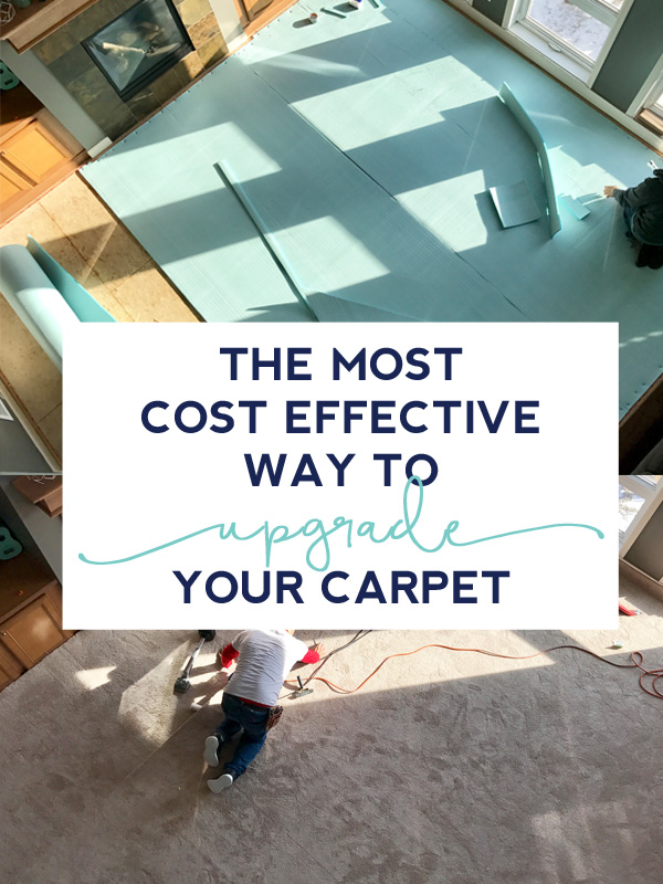 The carpet pad isn't just an extra expense on top of the price of new carpet, it's a key factor in how luxurious your new carpet will feel. Click through for tips on the most cost effective way to upgrade your carpet on a budget.