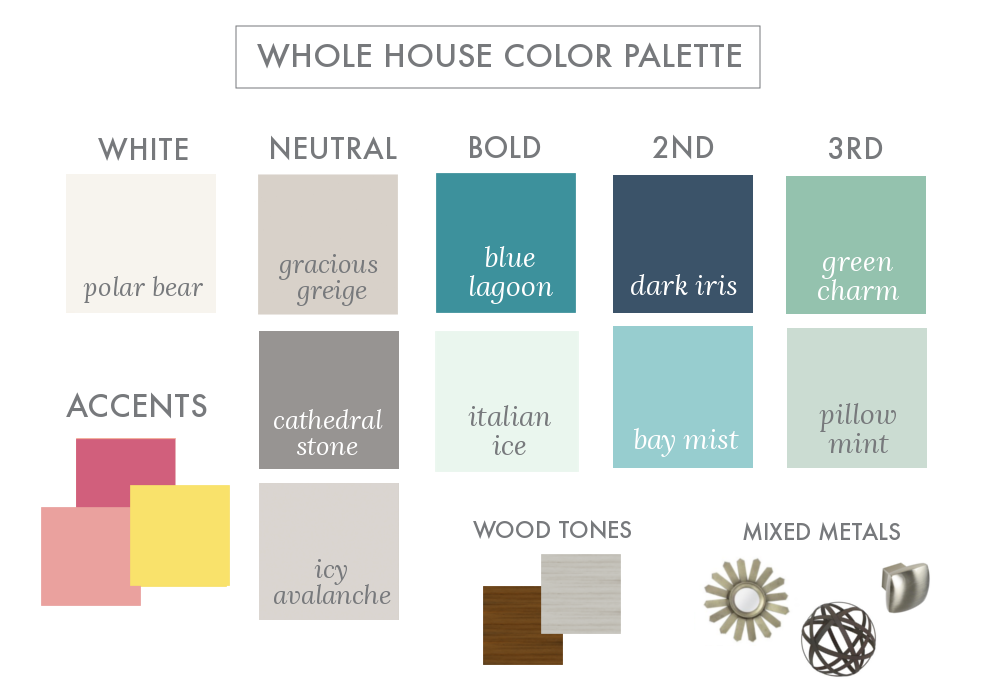 Whole house color palette 2017 before after kalyn 39 s for Whole house paint color palette