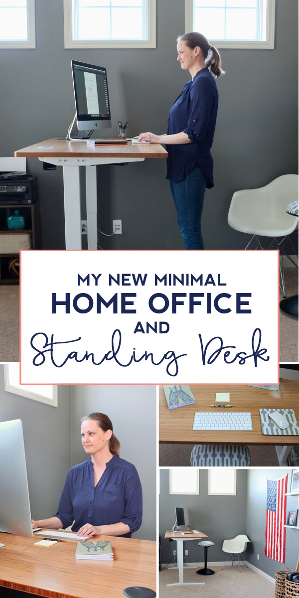 For a healthier workspace, I redesigned my home office around my new bamboo standing desk. I love the flexibility in this space now. I can work in any position I want.