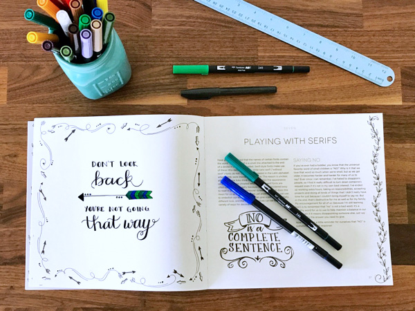 Want to learn hand lettering? This is the best book for beginners. Click through for my full review (with pictures inside the book) and get my short list of the supplies you need to get started.