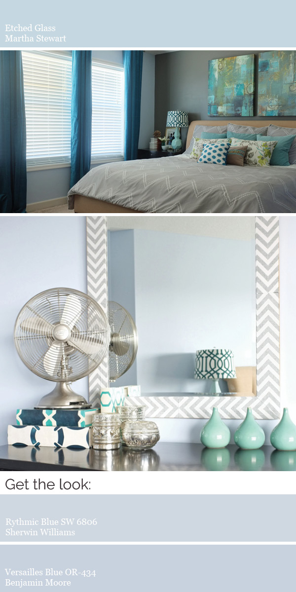 Create a modern whole house color scheme. Try light blue for a soothing bedroom.