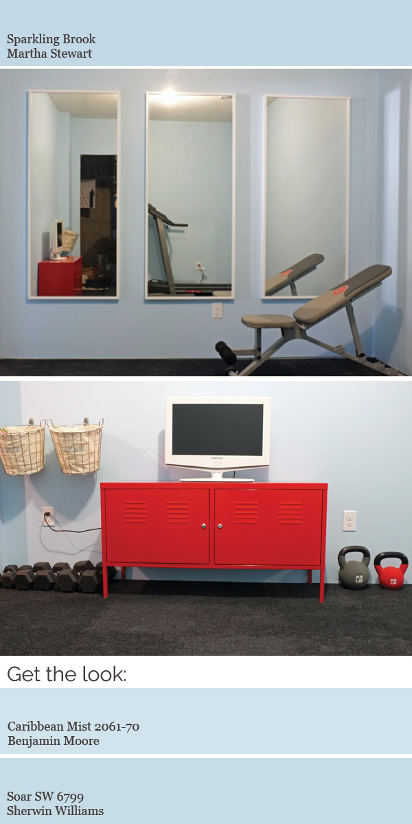Create a modern whole house color scheme. Did you know we supposedly workout better in a blue room?