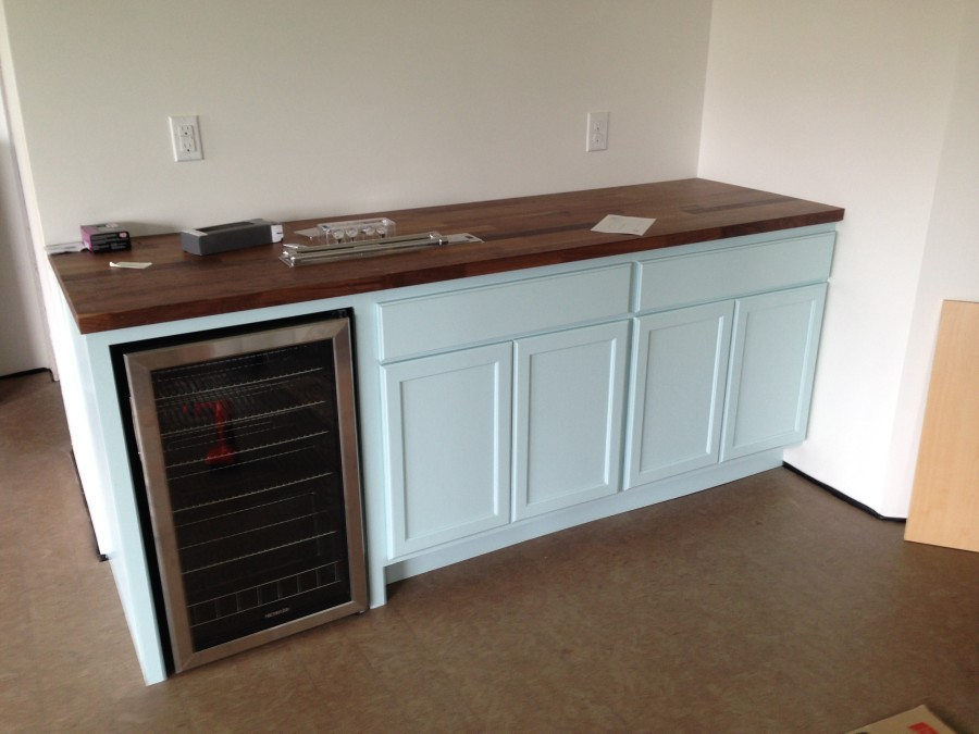 Martha Stewart Enamelware paint on cabinetry