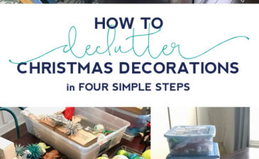 How to Declutter Christmas Decorations in 4 Simple Steps