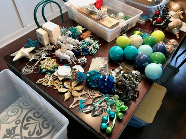 How to declutter Christmas ornaments