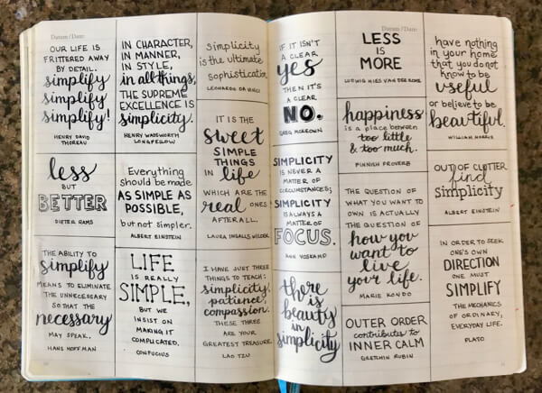 My guiding word for the year is SIMPLIFY. These quotes will inspire me throughout the year. Every few weeks I will choose one to put on the chalkboard in my kitchen.