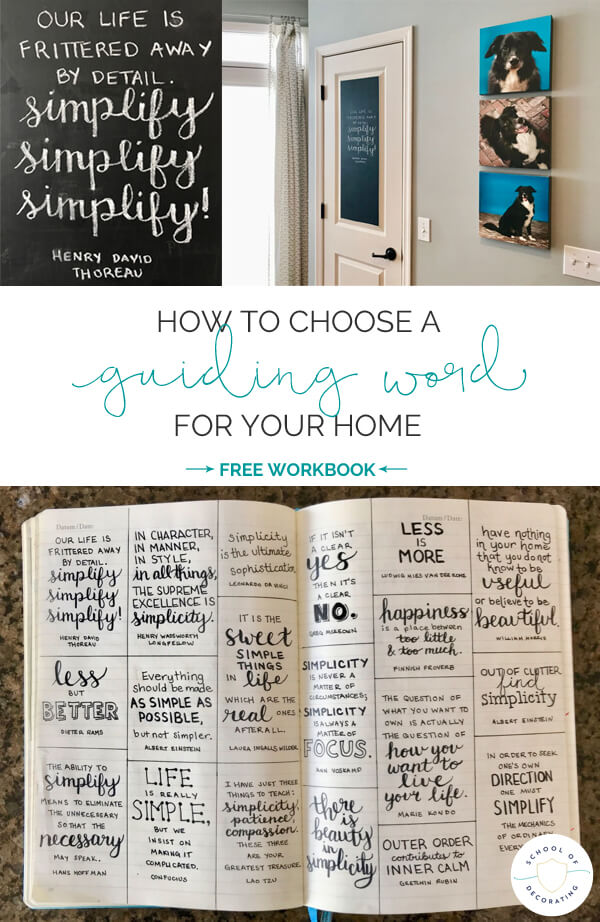 How to choose a guiding word for your home - get the free workbook!