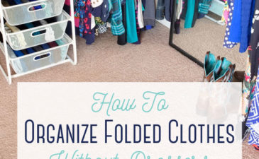 How To Organize Folded Clothes Without Dressers