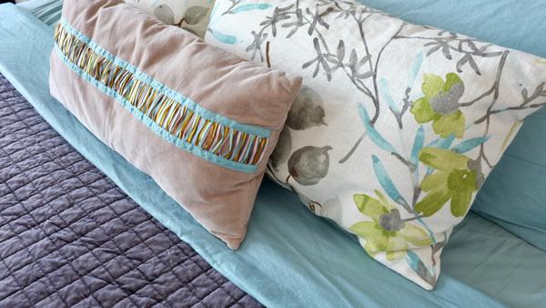 cloud gazebo floral pillows