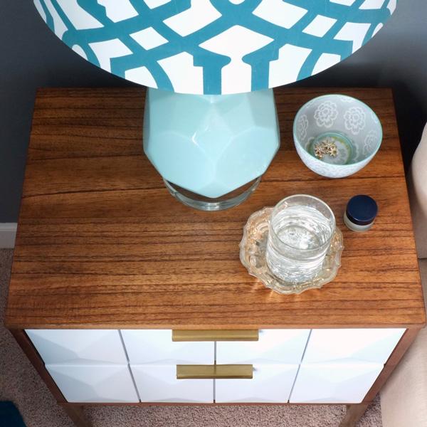 modern geometric nightstand