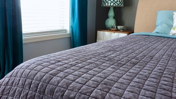 Love velvet for the bedroom