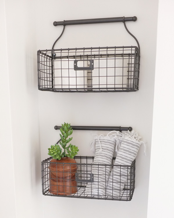 Wire Wall Baskets School Of Decorating, Bathroom Wall Baskets